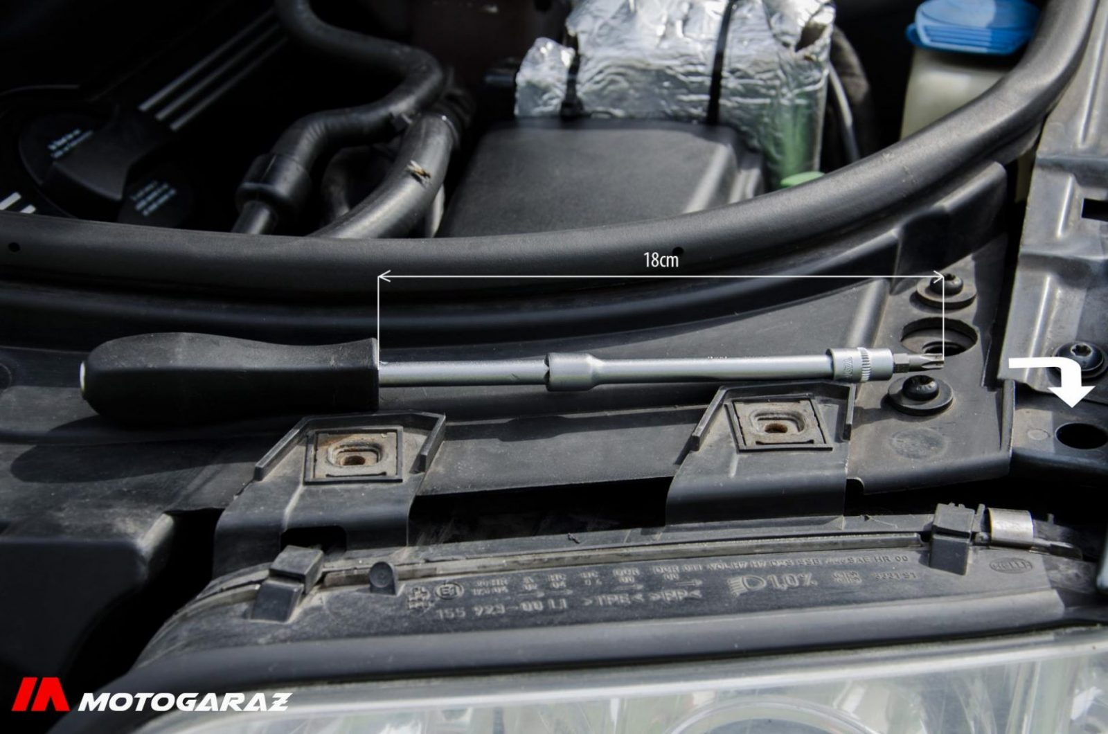 Wymiana lampy Audi a6c5 - fot. nr 4