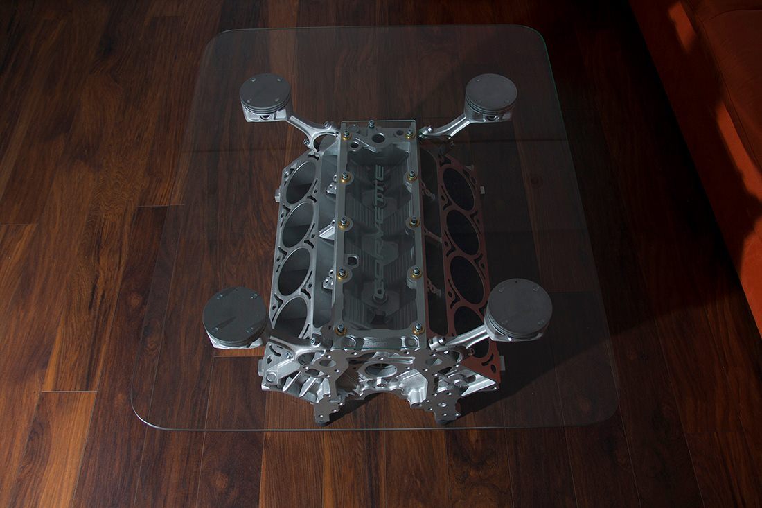 Stolik Z Silnika V8 W Stylu Top Gear Motogaraż
